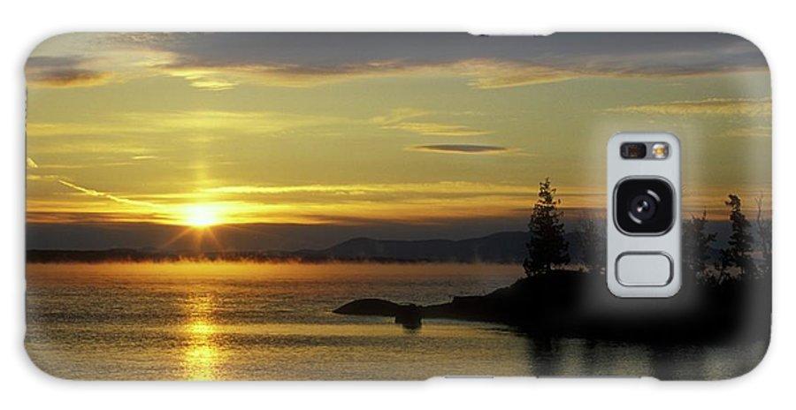 Moosehead Lake Galaxy S8 Case featuring the photograph Moosehead Lake Sunrise by John Burk