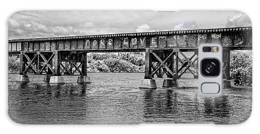 Old Railway Bridge Galaxy S8 Case featuring the photograph More Love by Eda Rivera