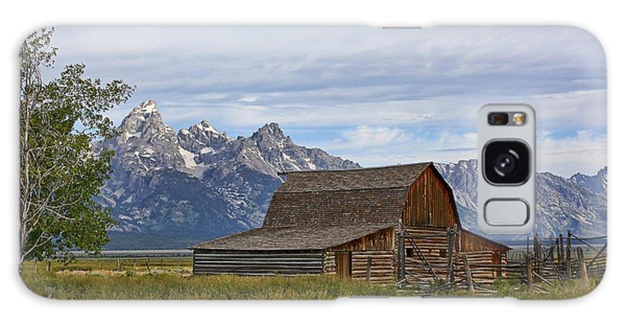Mormon Row Galaxy Case featuring the photograph Mormon Row Barn And Grand Tetons by Teresa Zieba