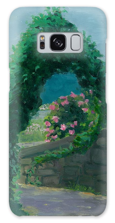 Landscape Galaxy Case featuring the painting Morning At Harkness Park by Paula Emery
