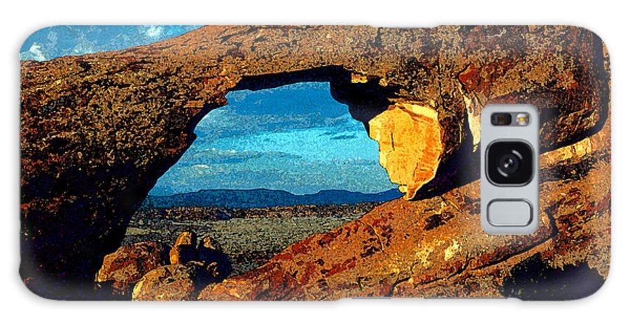 Landscape Arch Galaxy S8 Case featuring the painting Morning At Landscape Arch by David Lee Thompson