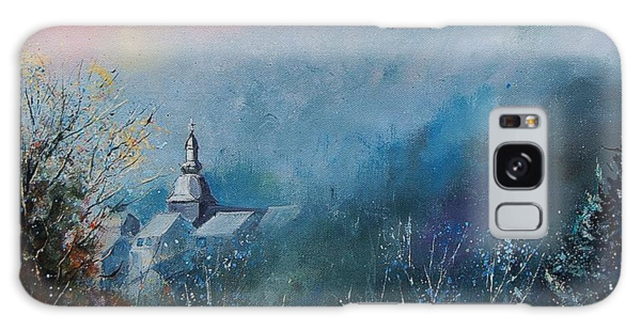 Winter Galaxy S8 Case featuring the painting Morning Frost by Pol Ledent