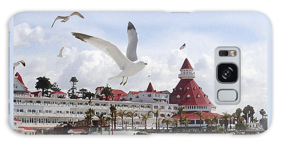 Beach Galaxy S8 Case featuring the photograph Morning Gulls On Coronado by Margie Wildblood