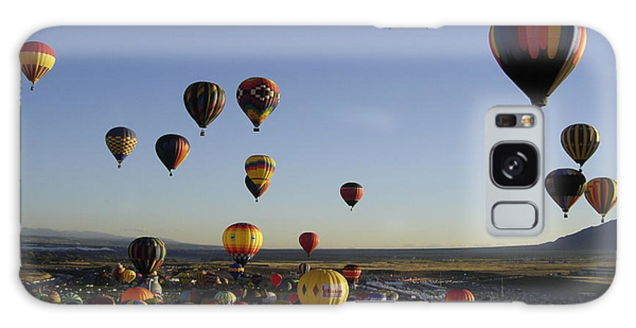 Hot Air Balloons Galaxy S8 Case featuring the photograph Morning Liftoff by Mary Rogers
