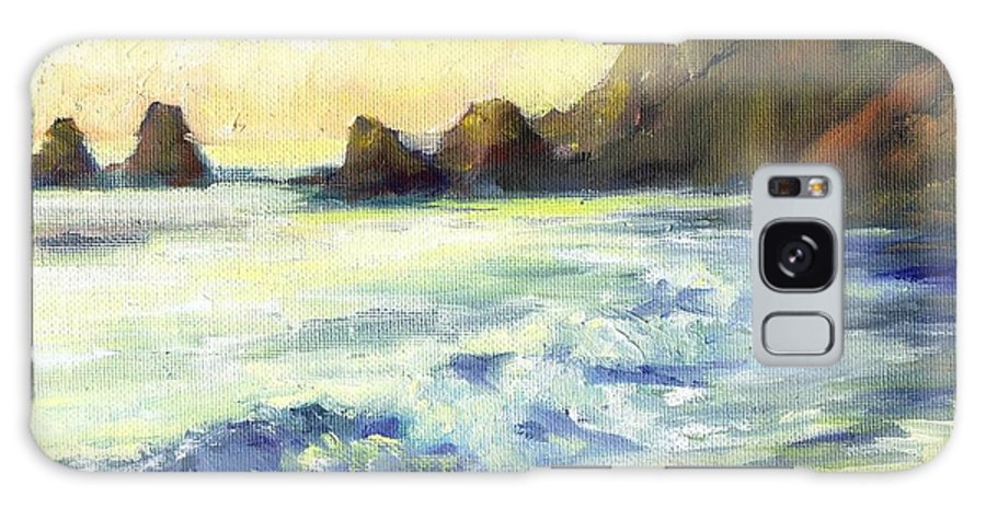 Landscappe Galaxy S8 Case featuring the painting Morning Light by Kathryn Colvig