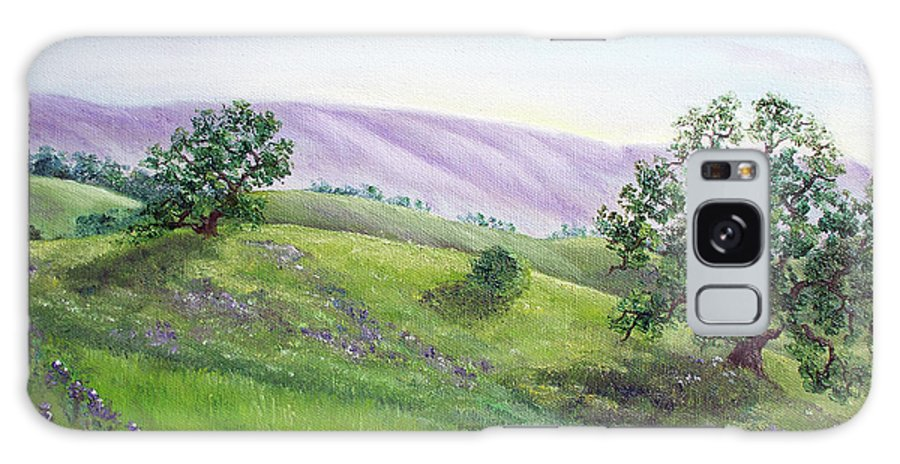 California Galaxy S8 Case featuring the painting Morning Lupines by Laura Iverson