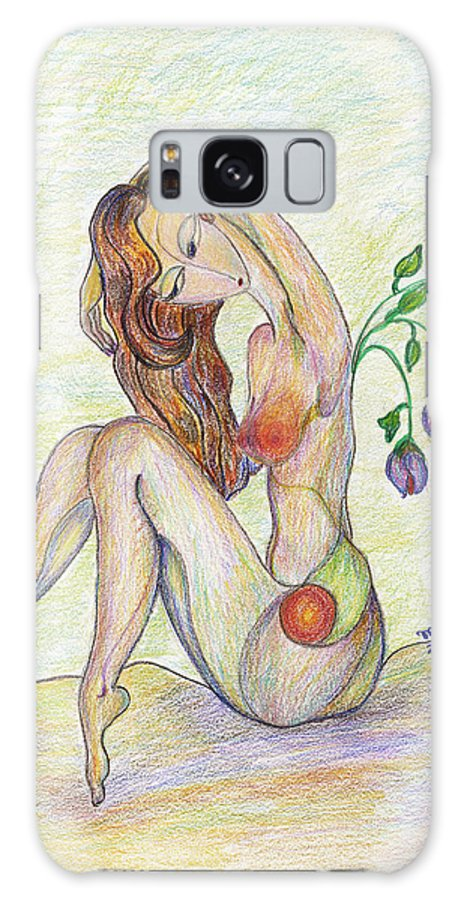 Figurative Art Paintings Galaxy S8 Case featuring the drawing Morning by Mila Ryk