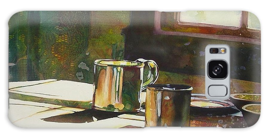 Still Life Galaxy Case featuring the painting Morning Setting by Marlene Gremillion