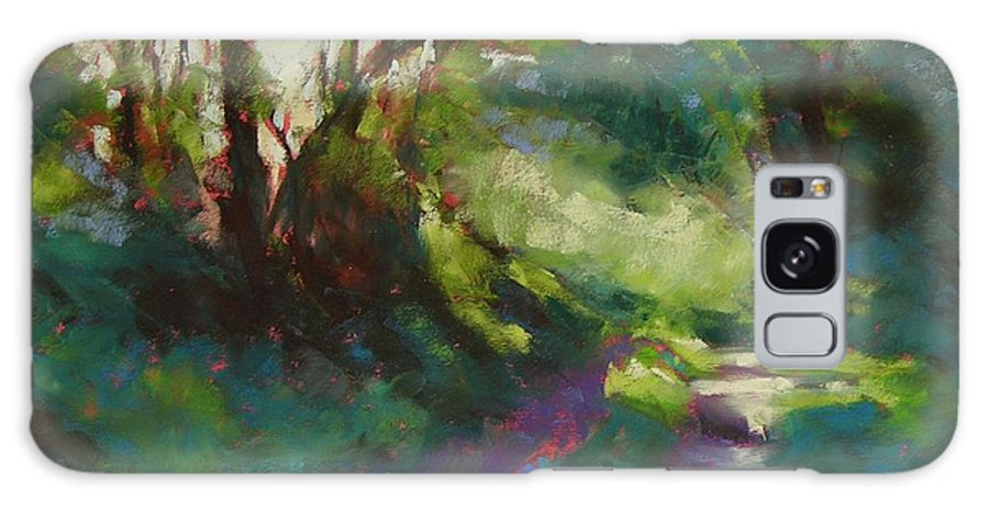 Pastel Galaxy S8 Case featuring the painting Morning Walk II by Mary McInnis