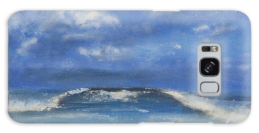 Landscape Galaxy S8 Case featuring the painting Morning Waves, 9x12, Oil, '08 by Lac Buffamonti