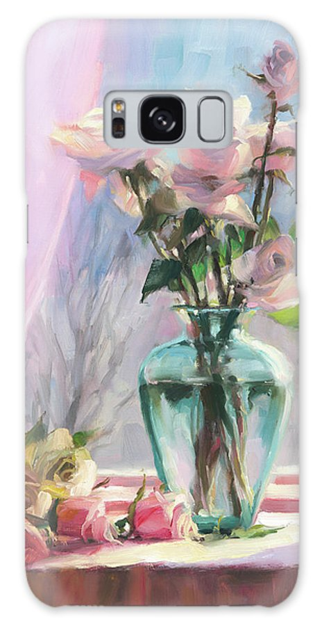 Flowers Galaxy S8 Case featuring the painting Morning's Glory by Steve Henderson
