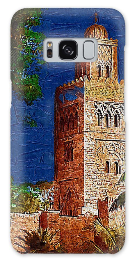 Morocco Galaxy S8 Case featuring the digital art Morocco Pavilion In Epcot by Nora Martinez