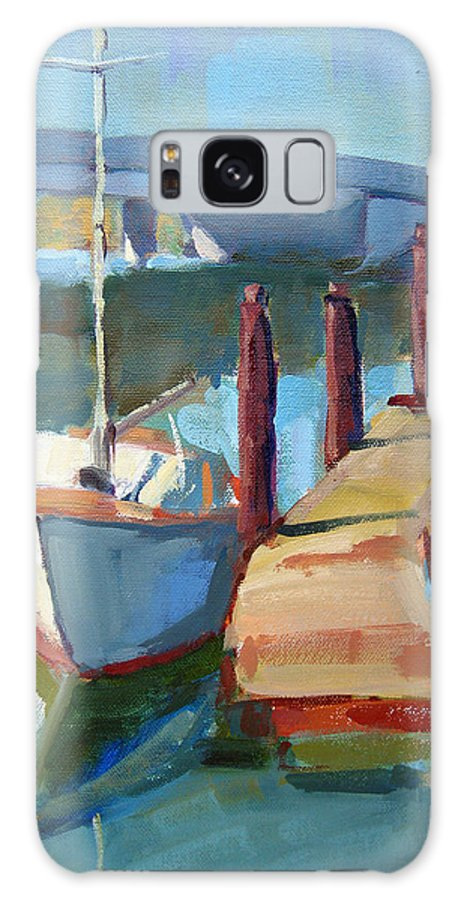 Boat Galaxy S8 Case featuring the painting Moss Landing Morning by Sandra Smith-Dugan