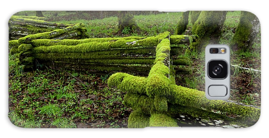 Moss Galaxy S8 Case featuring the photograph Mossy Fence 4 by Bob Christopher
