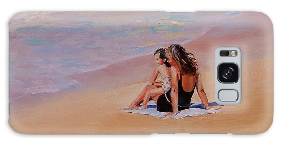Seascape Galaxy Case featuring the painting Mother And Child by Laura Lee Zanghetti