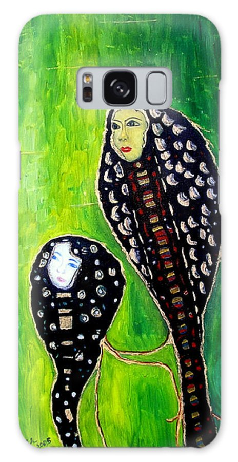 Motherly Love Galaxy Case featuring the painting Mother And Daughter by Pilar Martinez-Byrne