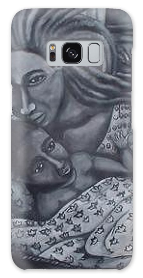 Mother Taking Care Of Child Galaxy S8 Case featuring the painting Mother And Son by Andrew Johnson
