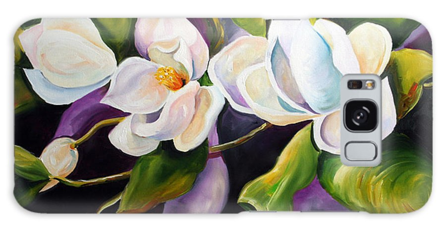 Magnolia Flower Galaxy Case featuring the painting Mother by Laurie Pace