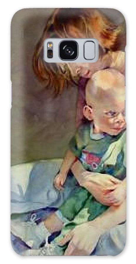 Mother And Child Galaxy Case featuring the painting Mother Love by Marlene Gremillion
