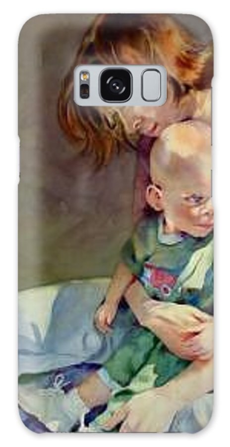 Mother And Child Galaxy S8 Case featuring the painting Mother Love by Marlene Gremillion