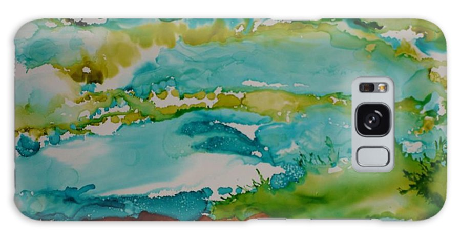 Wave Galaxy Case featuring the mixed media Mother Ocean by Susan Kubes