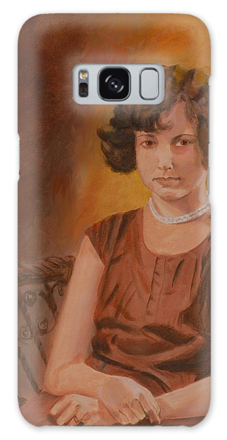 Woman Galaxy S8 Case featuring the painting Mother by Quwatha Valentine