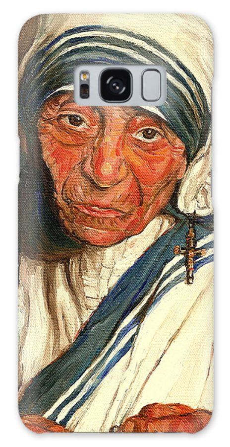 Mother Teresa Galaxy Case featuring the painting Mother Teresa by Carole Spandau