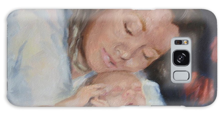 Mother Galaxy Case featuring the painting Mother's Love by Carol Mueller