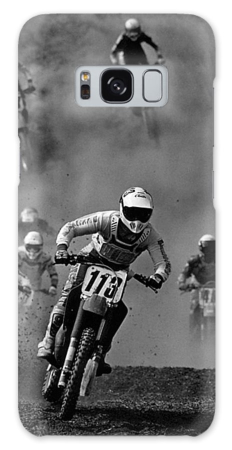 Motocross Galaxy Case featuring the photograph Motocross Racing by Steve Somerville