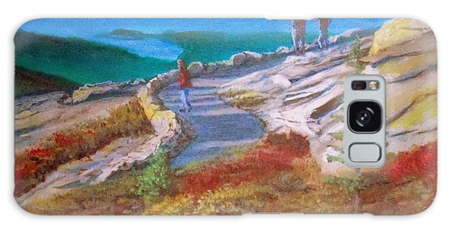 Acadia National Park Galaxy S8 Case featuring the painting Mount Cadilac Path by William Tremble