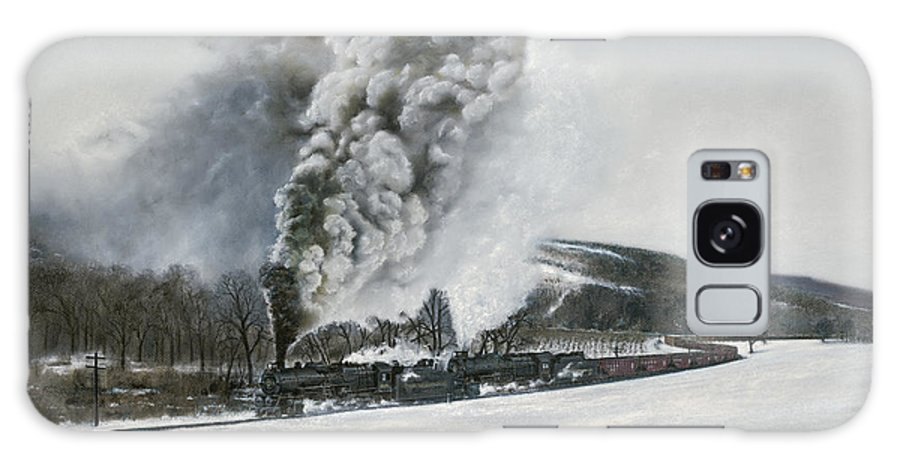 Trains Galaxy Case featuring the painting Mount Carmel Eruption by David Mittner
