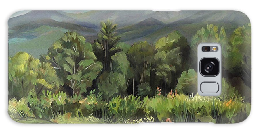 White Mountain Paintngs Galaxy Case featuring the painting Mount Lafayette From Sugar Hill New Hampshire by Nancy Griswold