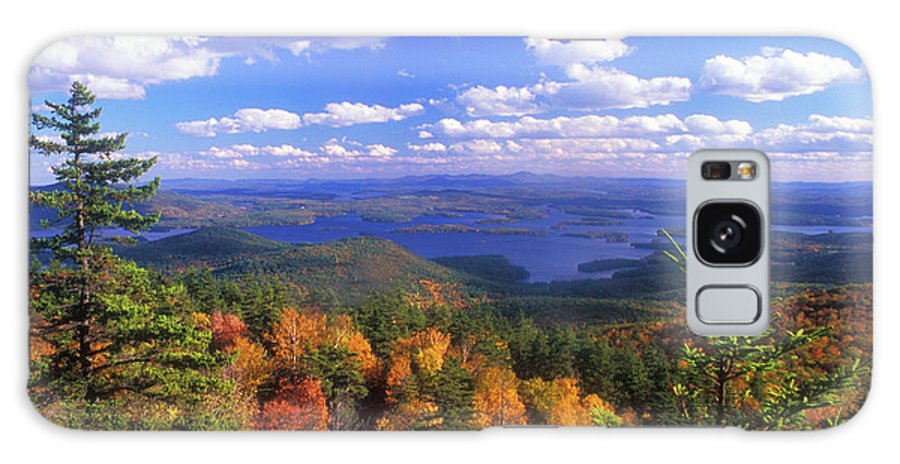 New Hampshire Galaxy S8 Case featuring the photograph Mount Morgan Squam Lake Foliage by John Burk