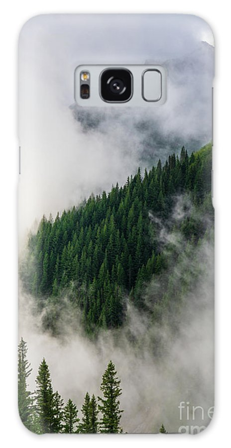 Rainier Galaxy Case featuring the photograph Mount Rainier National Park Clouds And Forest by Mike Reid