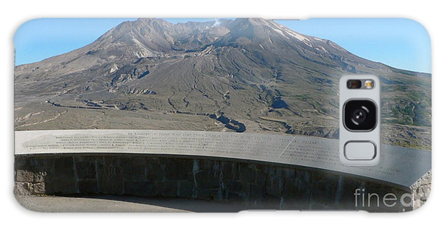 Volcano Galaxy S8 Case featuring the photograph Mount St. Helen Memorial by Larry Keahey