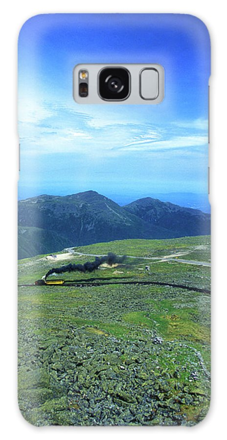 New Hampshire Galaxy S8 Case featuring the photograph Mount Washington Summit Cog Railroad by John Burk