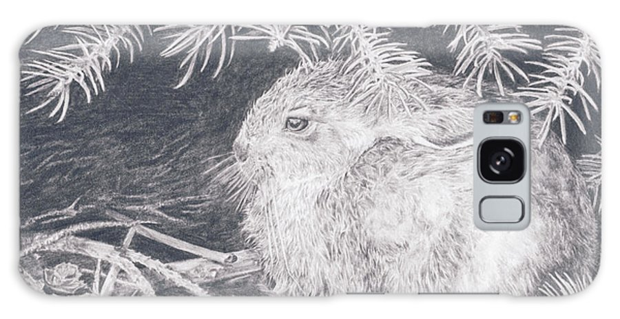 Rabbit Galaxy S8 Case featuring the drawing Mountain Cottontail by Shevin Childers