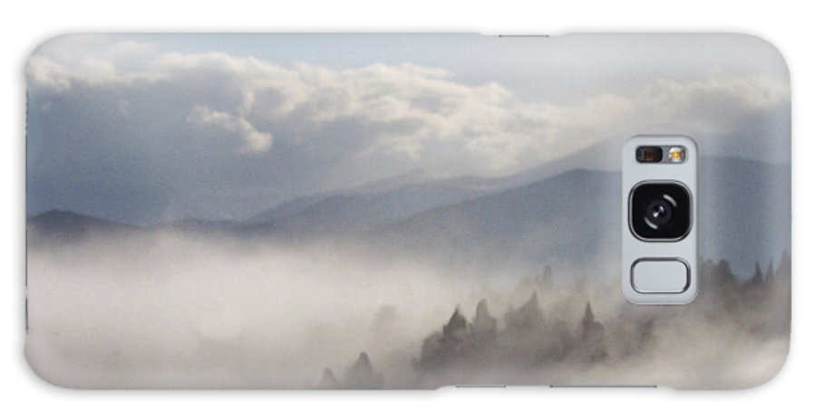 Mountain Galaxy S8 Case featuring the mixed media Mountain Mist by Carol Cavalaris