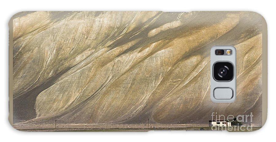 Mountain Galaxy S8 Case featuring the photograph Mountain Patterns, Padum, 2006 by Hitendra SINKAR