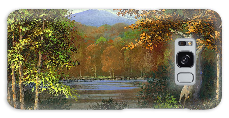 Landscape Galaxy Case featuring the painting Mountain Pond by Frank Wilson