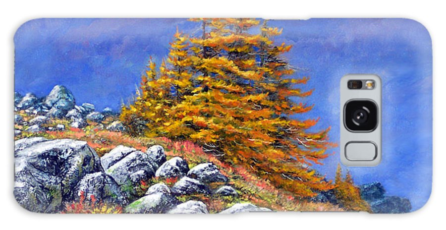 Mountains Galaxy S8 Case featuring the painting Mountain Tamaracks by Frank Wilson