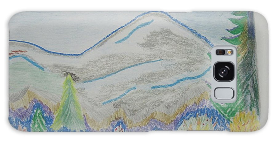 Landscape Galaxy S8 Case featuring the drawing Mountain View.switzerland 1995 by Dr Loifer Vladimir