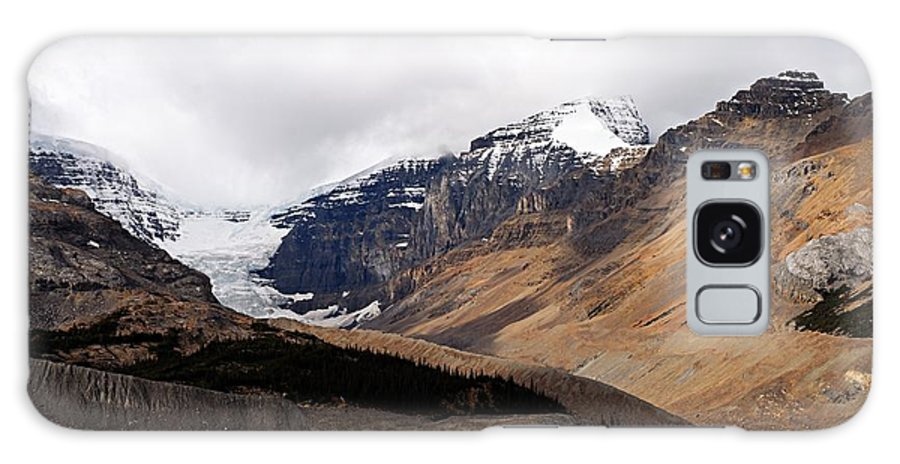 Jasper National Park Galaxy S8 Case featuring the photograph Mountains Clouds And Glaciers 2 by Larry Ricker