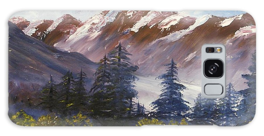 Oil Painting Galaxy Case featuring the painting Mountains I by Lessandra Grimley