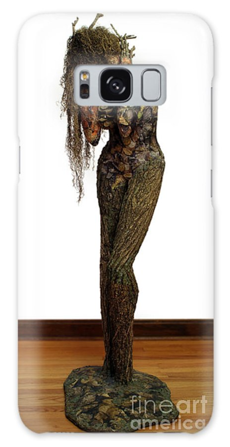 Art Galaxy S8 Case featuring the mixed media Mourning Moss A Sculpture By Adam Long by Adam Long