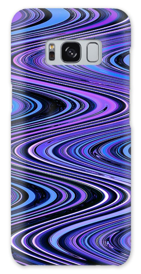 Moveonart! Digital Gallery Galaxy S8 Case featuring the digital art Moveonart Waves In Peaceful Movement by Jacob Kanduch
