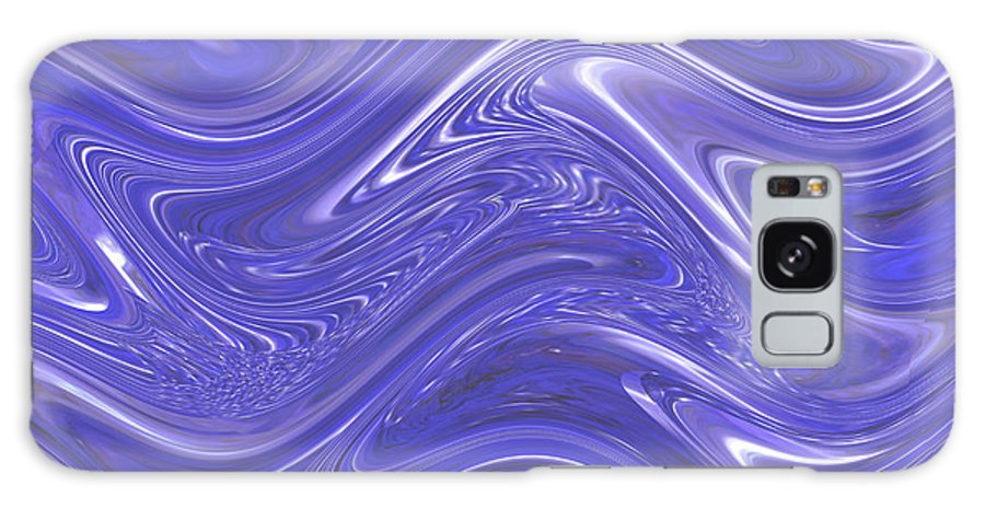 Moveonart! Digital Gallery Galaxy S8 Case featuring the digital art Moveonart Waves Of Blue For You 1 by Jacob Kanduch