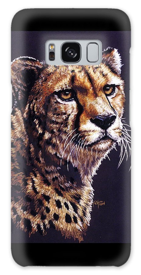 Cheetah Galaxy S8 Case featuring the drawing Movin On by Barbara Keith
