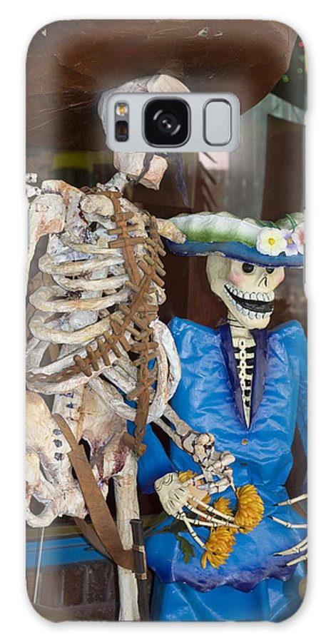Skeletons Galaxy Case featuring the photograph Mr And Mrs Death by Carl Purcell