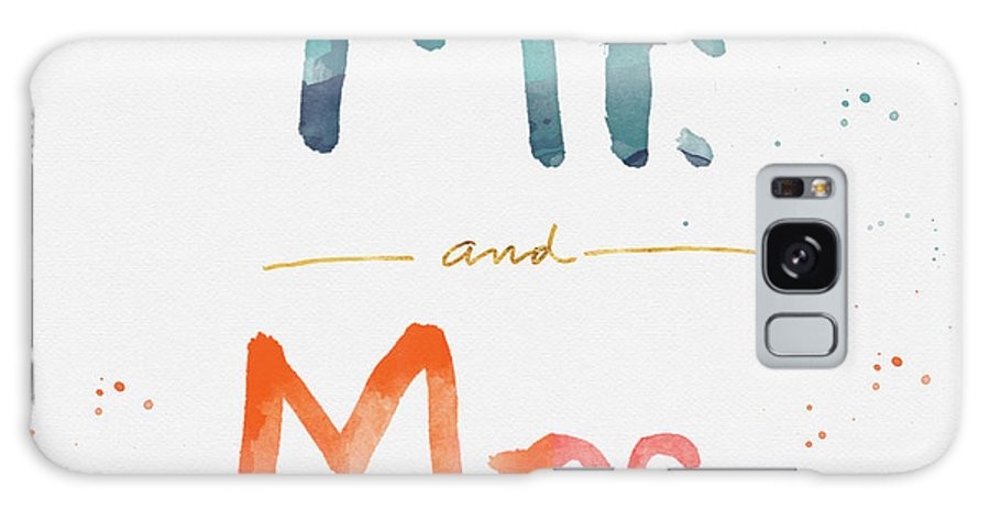 Mr And Mrs Galaxy S8 Case featuring the painting Mr And Mrs by Linda Woods